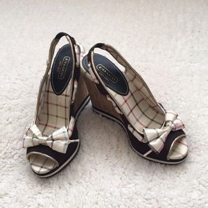 Coach twirling wedges shoes.
